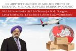 IGI Airport Handled 20 Million of Pieces Of Essential Medical Supply During Pandemic